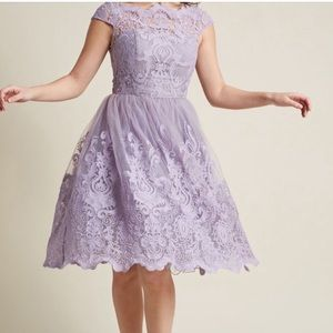 Chi Chi London Lilac Lace prom Formal Dress